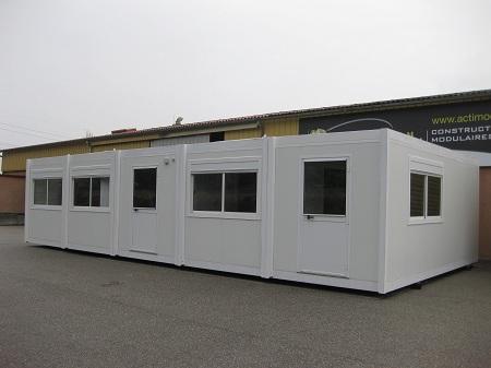 bureau modulaire batiment modulaire et bureau pr fabriqu. Black Bedroom Furniture Sets. Home Design Ideas
