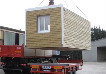 Livraison bâtiment modulaire