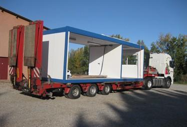 Transport bâtiment modulaire