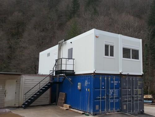 Extension bureaux modulaires sur conteneurs