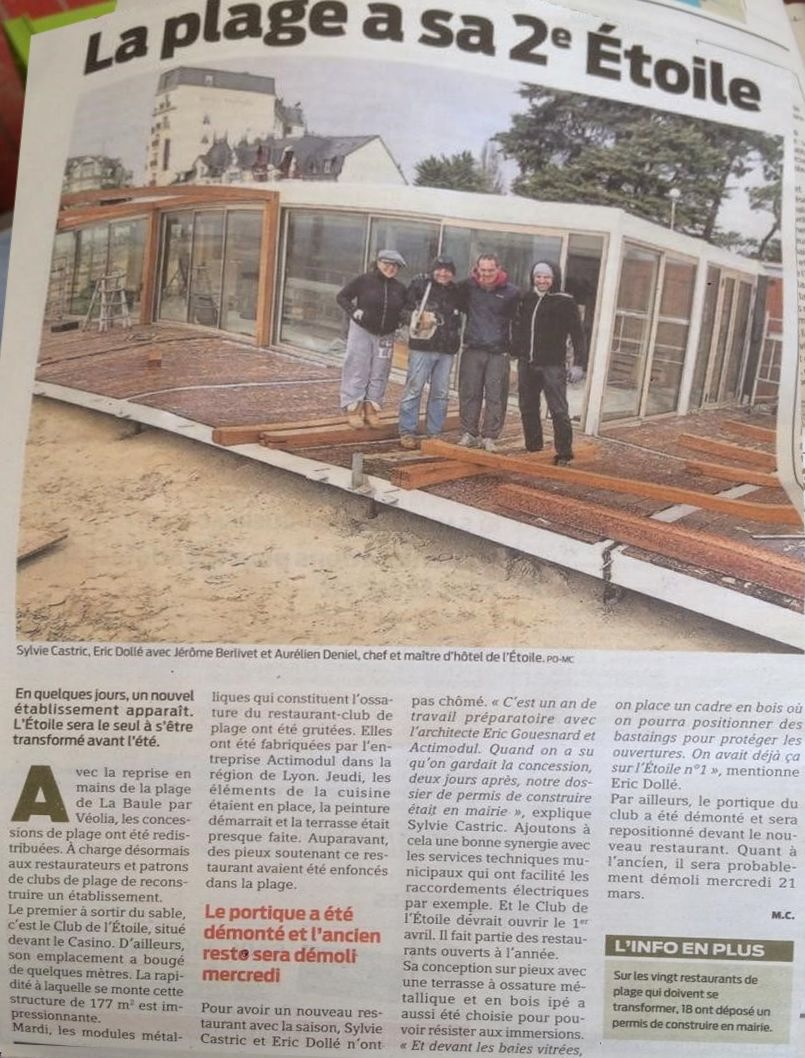 Article Ouest France 16/03/2018
