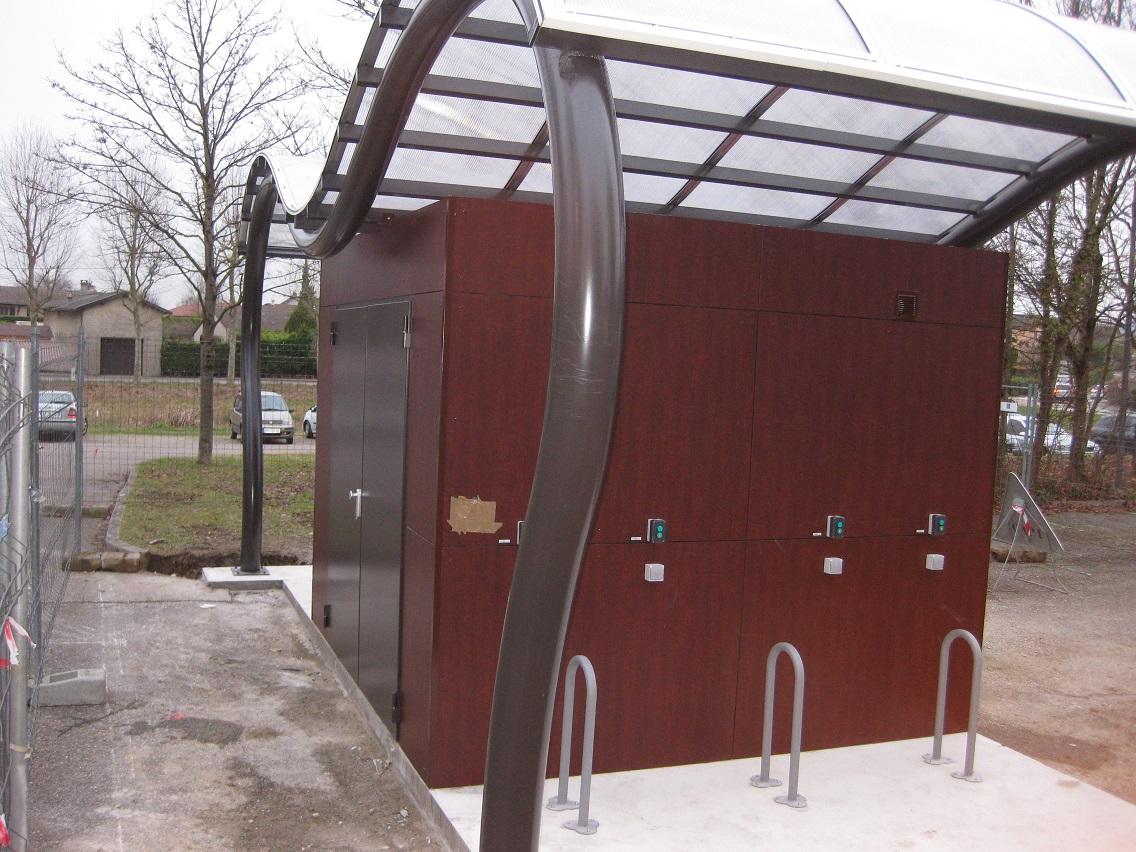 Abris à vélos électriques pour la CAPI (Isère)