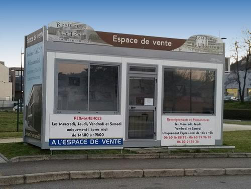 Bulle de vente immobili re bureau de vente modulaire - Bureau de vente immobilier ...
