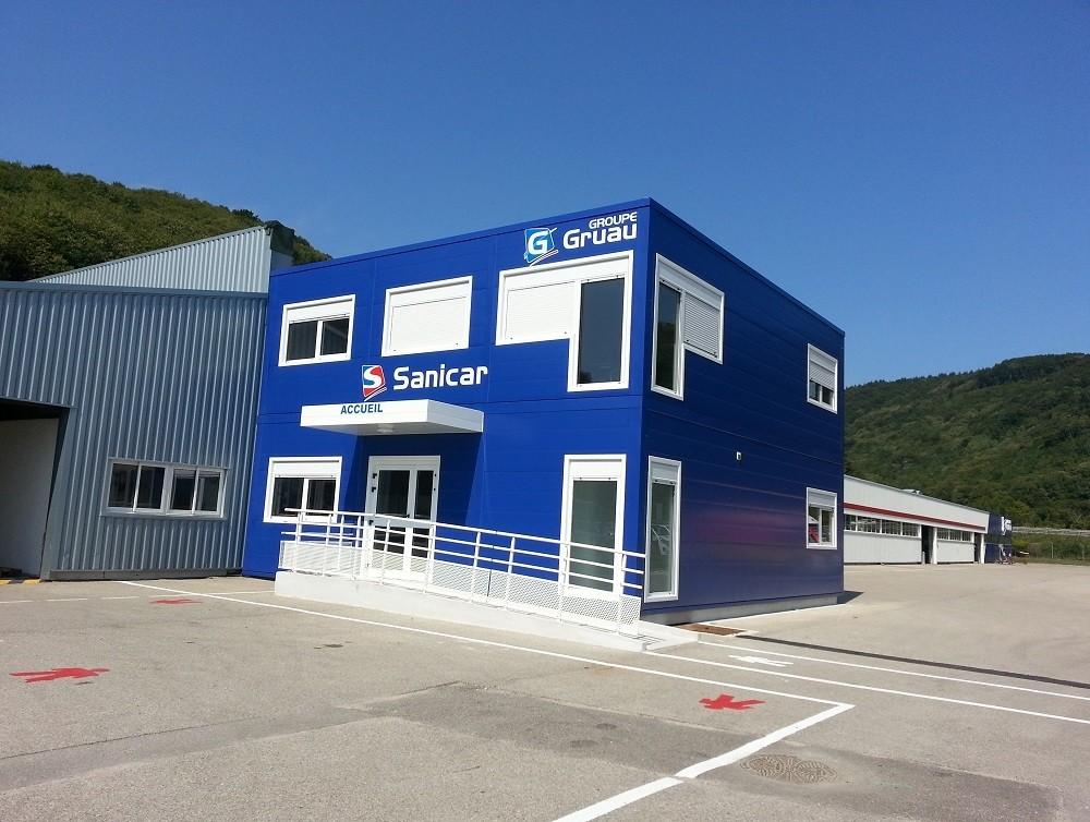 Fabrication de bureaux modulaires dans l'Isère