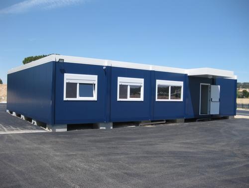 Construction bâtiment modulaire du centre d'examen du permis de conduire de Vitrolles