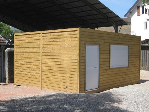 Construction club house modulaire installé en Haute-Savoie
