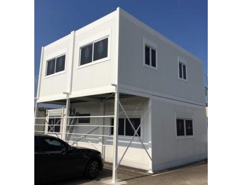 Extension d'un bâtiment modulaire existant en étage dans le Rhône