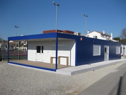 Construction d'un club house modulaire dans l'Hérault