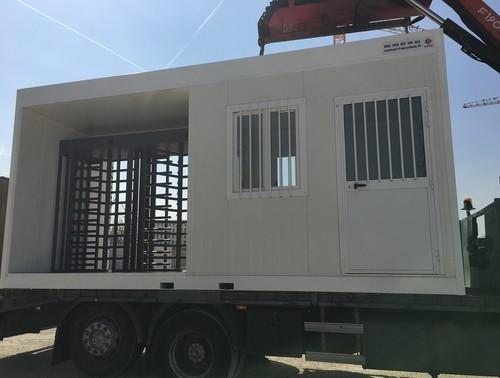 Poste de sécurité modulaire transportable
