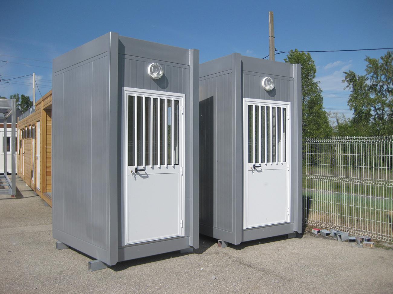 Postes de garde modulaires pour le parc des expositions de l'Ain