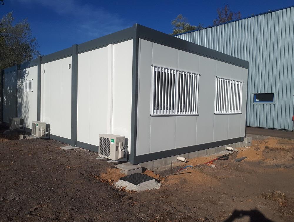 Construction d'un bâtiment modulaire pour les agents d'une déchetterie intercommunale
