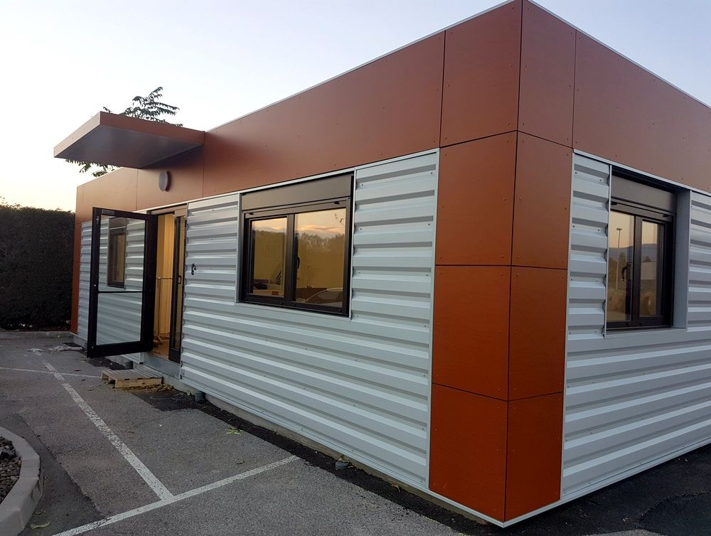Extension de bureaux pour une entreprise en Ardèche