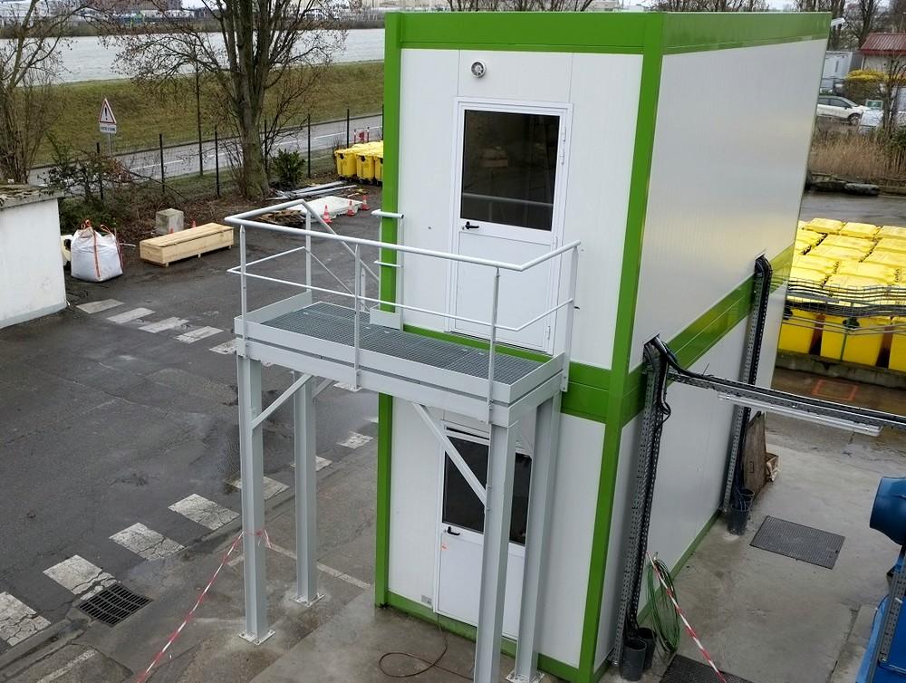 Construction de locaux techniques préfabriqués pour un site de traitement des déchets dans le Grand Est