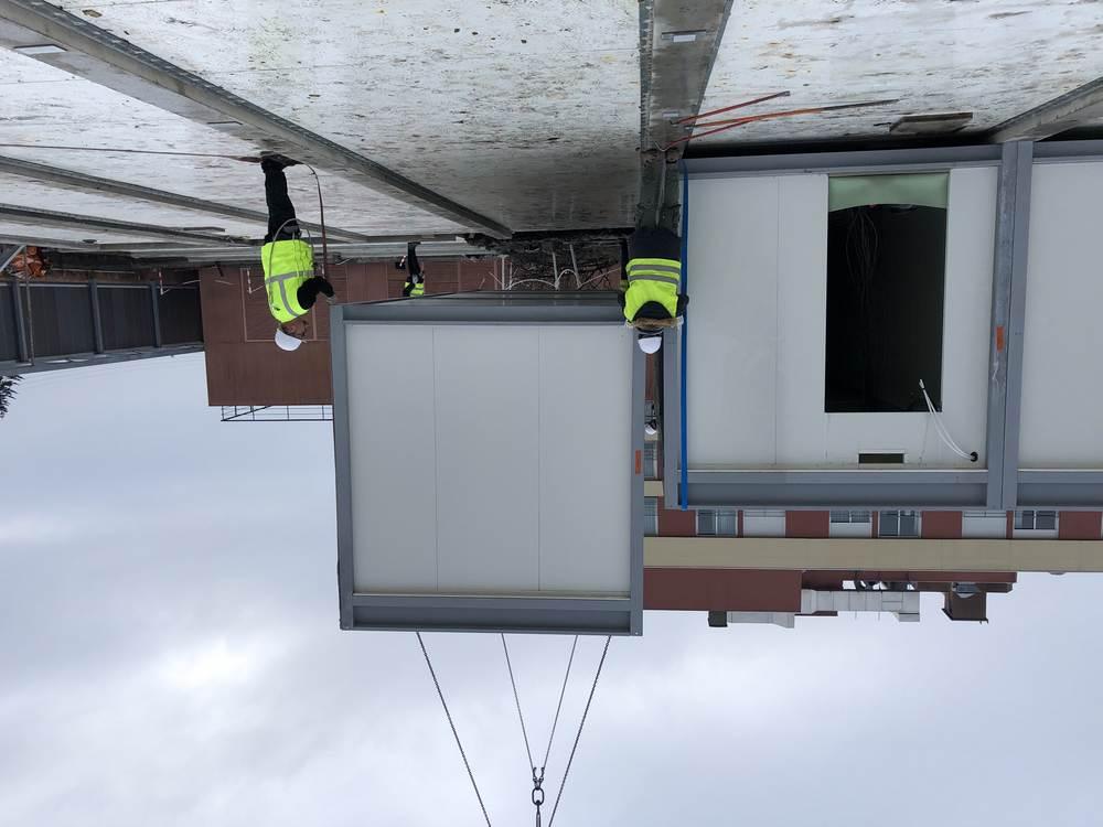 Création d'un vestiaire pour un centre hospitalier sur toiture terrasse (33)